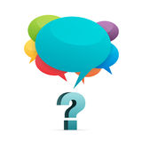 Fragen-Antworten Stockfoto