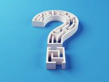 Fragen-Mark Maze-Puzzlespiel Stockbild