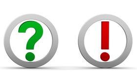 Fragen Sie Ausrufsmarkierungen Lizenzfreies Stockbild