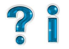 Fragen- u. Informationsmarkierungen Lizenzfreie Stockfotos