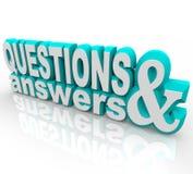 Fragen und Antwort vektor abbildung
