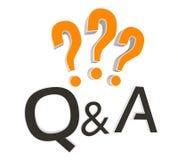 Fragen und Antwort Lizenzfreies Stockbild