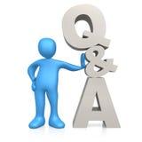 Fragen und Antwort Stockfoto