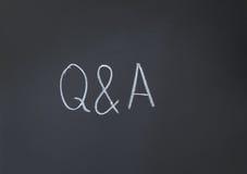 Fragen und Antworten Lizenzfreie Stockfotos