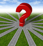 Fragen- und Strategiensymbol Stockfoto