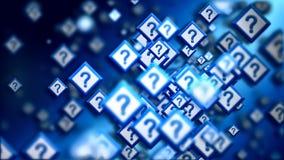 Fragen von der Online-Community im Cyberspace stock abbildung