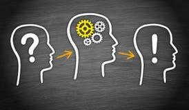 Fragenanalyse und -lösung Stockbild
