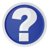 Fragenzeichen Lizenzfreie Stockbilder