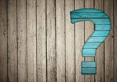 Fragenzeichen auf Zaun Stockfotos