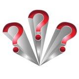 Fragezeichen Lizenzfreie Stockbilder