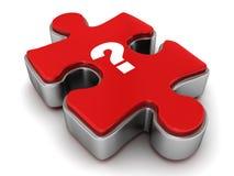 Fragezeichen auf Puzzlen Lizenzfreie Stockbilder