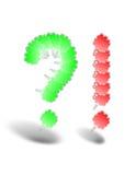 Fragezeichen-Ausrufezeichenblase Stockfotos