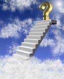 Fragezeichen in den Wolken Lizenzfreie Stockfotografie