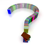 Fragezeichen der Bücher Lizenzfreie Stockbilder
