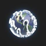 Fragezeichen-Erde Lizenzfreies Stockfoto