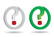 Fragezeichen für Ihr Design Lizenzfreie Stockbilder