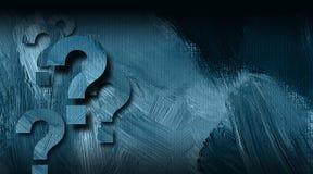 Fragezeichen grafisch auf strukturiertem Hintergrund Lizenzfreies Stockbild