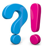Fragezeichen und Ausruf Lizenzfreies Stockbild
