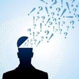 Fragezeichen und Person Lizenzfreies Stockbild