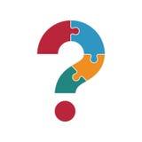 Fragezeichen vom Puzzlespiel Lizenzfreie Stockbilder