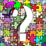 Fragezeichenpuzzlespiel lizenzfreie abbildung