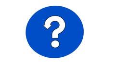 Fragezeichenzeichen Lizenzfreies Stockfoto
