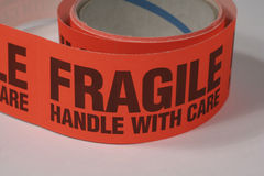 Fragile. Sticker Royalty Free Stock Images