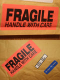 Fragile. Two in one. Top one - shallow DOF stock image