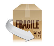 Fragile box illustration design Royalty Free Stock Photo