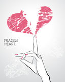 Fragile broken heart Royalty Free Stock Images
