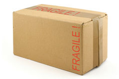 Fragile cardboard box Stock Photos