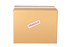 Fragile on cardboard box Stock Photo