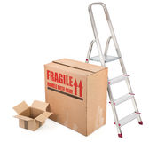 Fragile cardboard boxes Stock Images