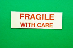 Fragile With Care Stock Photos