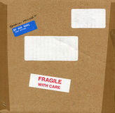 Fragile with care sign Stock Image