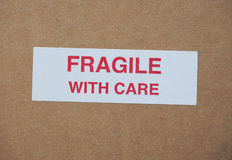 Fragile with care sign Royalty Free Stock Photos