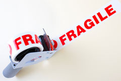 Fragile delivery service Stock Photo