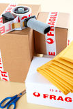 Fragile delivery service Stock Image