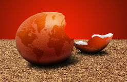 Fragile Earth. Concept image of the fragile state of the world Royalty Free Stock Photography