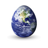 Fragile earth. Earth in egg shape, to convey a fragile earth Stock Photography