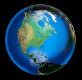 Fragile earth bubble Stock Images