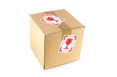 Fragile filled box Royalty Free Stock Photography