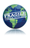 Fragile globe Stock Photo