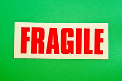 Fragile on Green Royalty Free Stock Image
