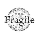 Fragile grunge rubber stamp Royalty Free Stock Images