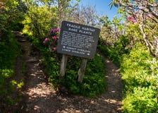 Fragile Habitat Sign. At Craggy Gardens stock image