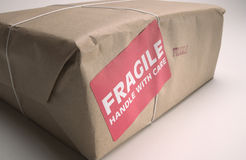 Fragile Handle with Care Royalty Free Stock Photo