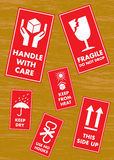 Fragile Handle with Care Label Sticker Royalty Free Stock Images