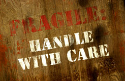 Fragile handle with care sign Royalty Free Stock Photography