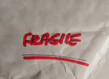 Fragile handwritten warning Royalty Free Stock Image